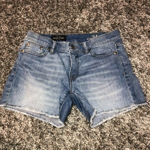 J. Crew Indigo Denim Cut-off Frayed Jean Shorts 24